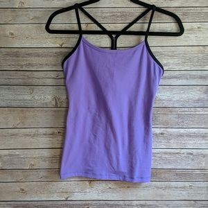 Lululemon Power Y Tank Purple and Black